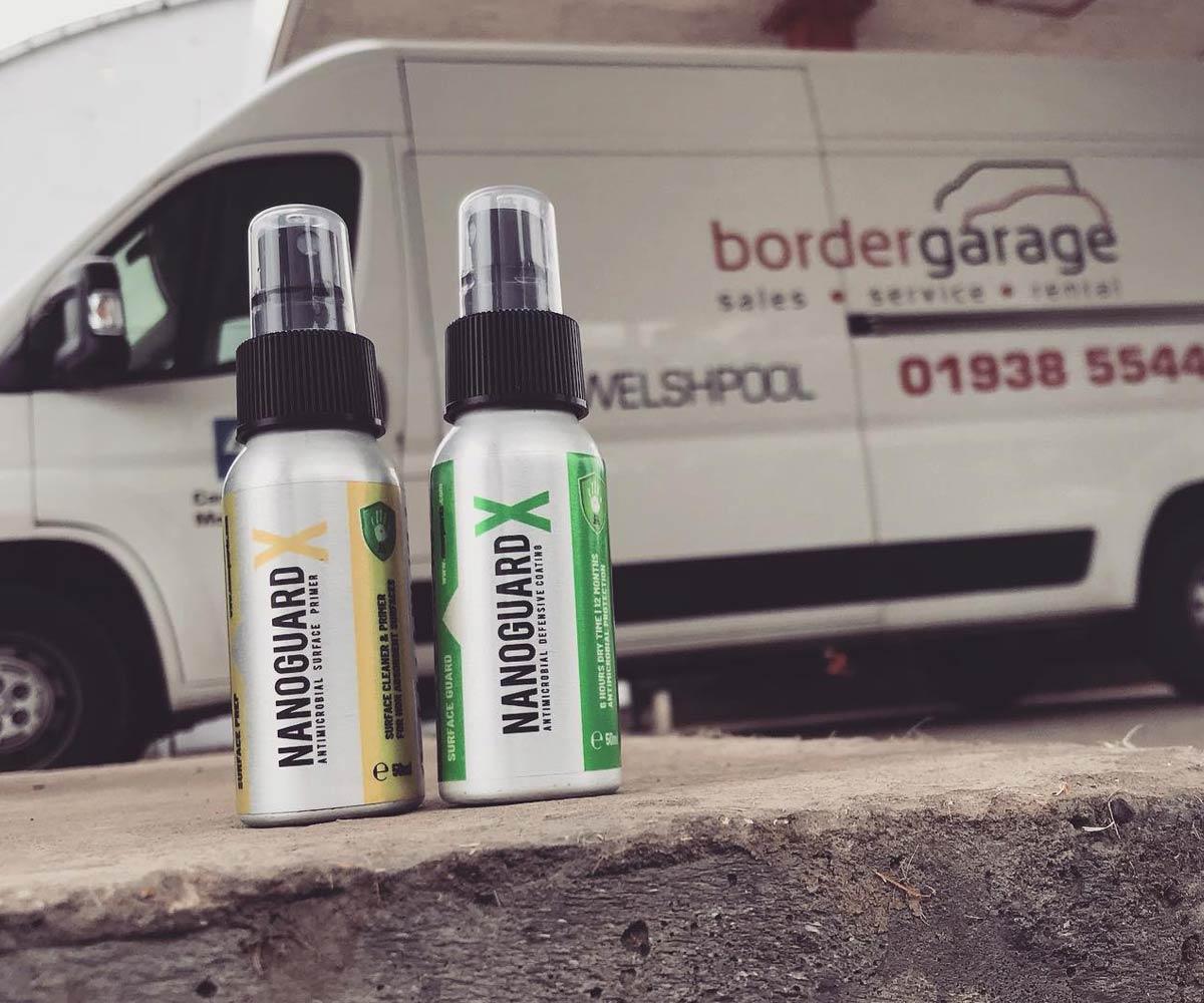 nanoguardx antimicrobial spray coating - application at petrol station, welshpool