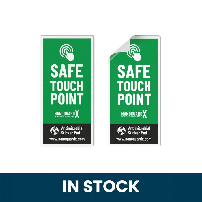 Safe Touch Antimicrobial Touch Pad Stickers with safe touch film resistant to microbial contamination