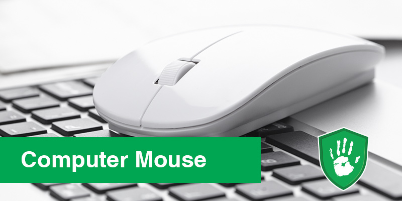 antimicrobial coating spray for keyboards and office appliances - mouse