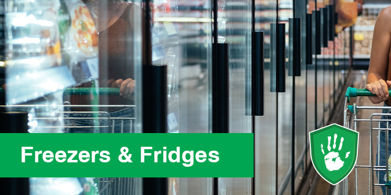antimicrobial surface coating for freezers and fridges in supermarkets