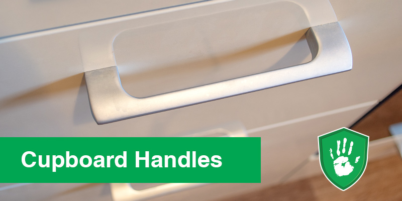 antimicrobial clear coating for cupboard handles