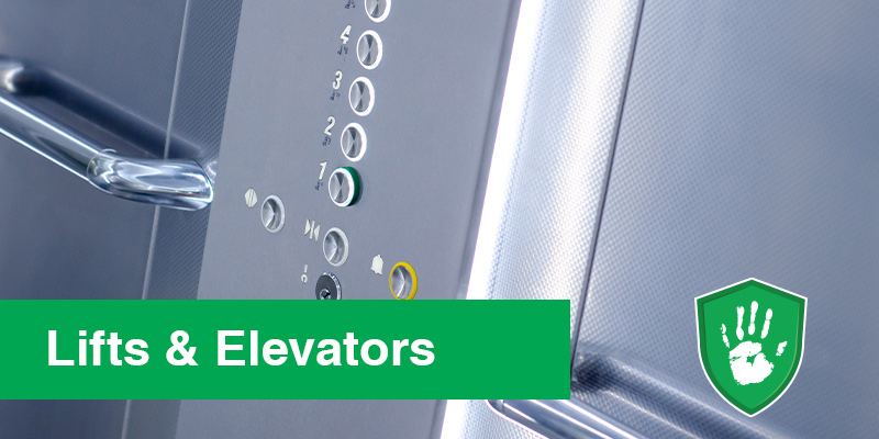 antimicrobial coating for lifts and elevators