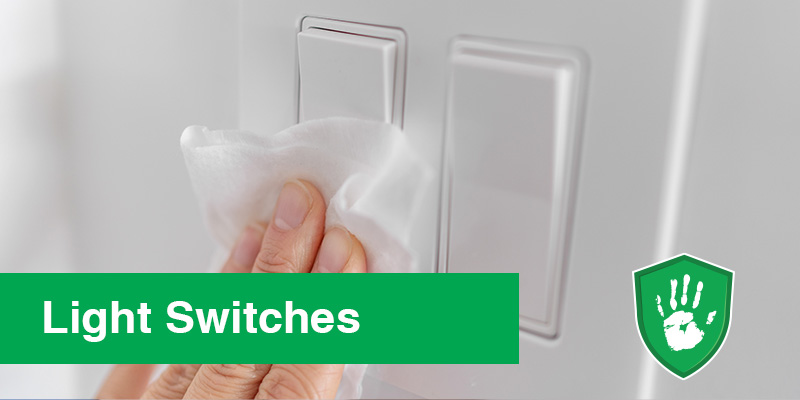 NanoGuardX Antimicrobial Coating for light switches