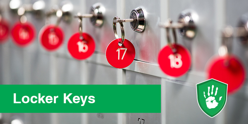 antimicrobial coating solutions for locker keys