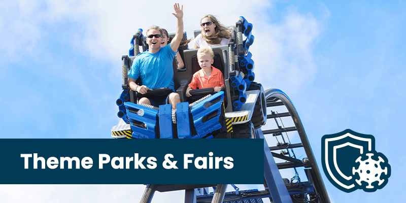 Antimicrobial Coating for Theme Parks with 90 Day Protection from viruses and bacteria