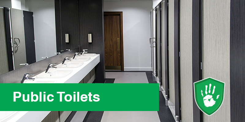 antimicrobial protection spray for public toilets