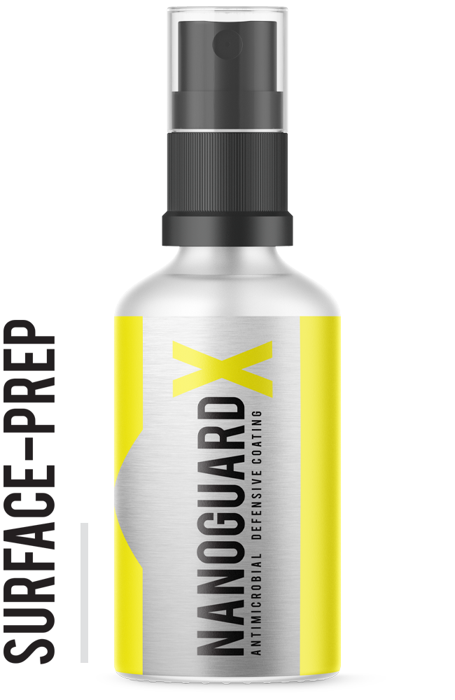 NanoGuardX Antimicrobial Surface Coating - Surface Prep