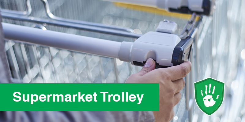 antimicrobial surface coating for supermarkets trolley handles